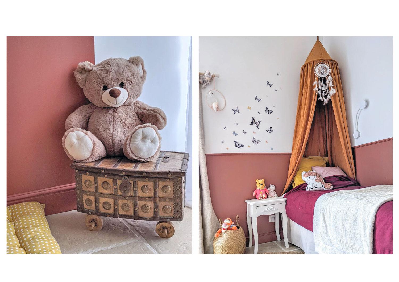 Décoration d'une chambre de fille en Vendée